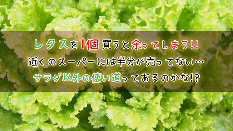 レタスのレシピ《サラダ以外》を紹介!健康的においしく食べよう!